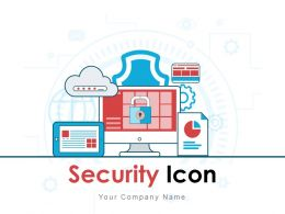 Security Icon Money Shield Alarm camera Gate Wall