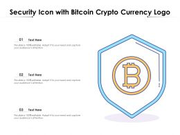 Security Icon With Bitcoin Crypto Currency Logo