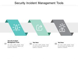 Security Incident Management Tools Ppt Powerpoint Presentation Icon Background Image Cpb