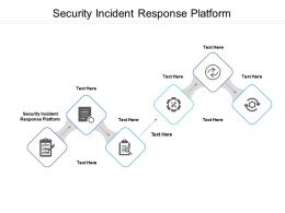 Security Incident Response Platform Ppt Powerpoint Presentation Inspiration Infographics Cpb