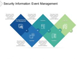 Security Information Event Management Ppt Powerpoint Presentation Design Cpb