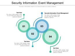 Security Information Event Management Ppt Powerpoint Show Good Cpb