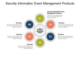 Security Information Event Management Products Ppt Show Example Cpb