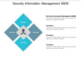 Security Information Management SIEM Ppt Powerpoint Presentation Layouts Gridlines Cpb