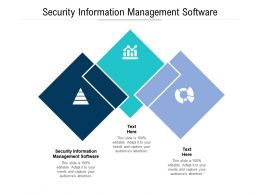 Security Information Management Software Ppt Powerpoint Format Ideas Cpb