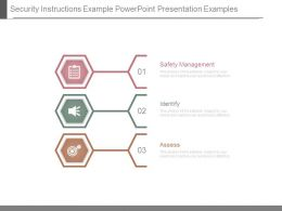 Security Instructions Example Powerpoint Presentation Examples