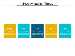 Security Internet Things Ppt Powerpoint Presentation Model Templates Cpb