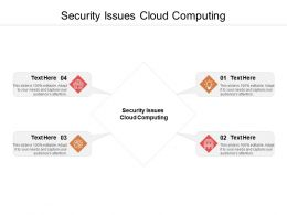 Security Issues Cloud Computing Ppt Powerpoint Presentation Model Skills Cpb