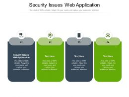 Security Issues Web Application Ppt Powerpoint Presentation Model File Formats Cpb