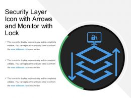 Security Layer Icon With Arrows And Monitor With Lock