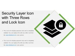 Security Layer Icon With Three Rows And Lock Icon