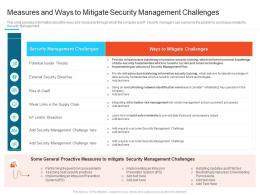 Security Management Challenges Steps Set Up Advanced Security Management Plan Ppt Icons