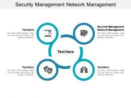 Security Management Network Management Ppt Powerpoint Presentation Model Demonstration Cpb