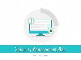 Security Management Plan Measures Strategy Framework Symbol Assessment Improving