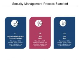 Security Management Process Standard Ppt Powerpoint Presentation Summary Cpb
