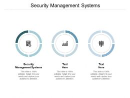 Security Management Systems Ppt Powerpoint Presentation Show Themes Cpb