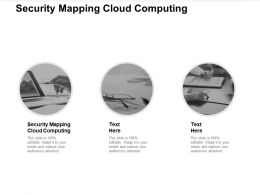 Security Mapping Cloud Computing Ppt Powerpoint Presentation Outline Visual Aids Cpb