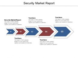 Security Market Report Ppt Powerpoint Presentation Layouts Picture Cpb