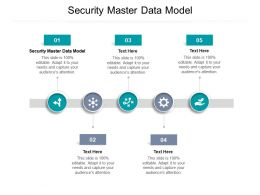 Security Master Data Model Ppt Powerpoint Presentation Layouts Model Cpb