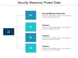 Security Measures Protect Data Ppt Powerpoint Presentation Pictures Examples Cpb