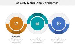 Security Mobile App Development Ppt Powerpoint Presentation Infographics Cpb