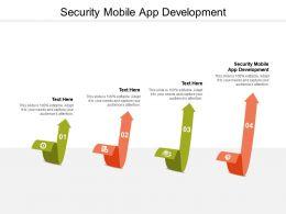 Security Mobile App Development Ppt Powerpoint Presentation Show Cpb
