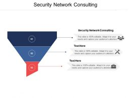 Security Network Consulting Ppt Powerpoint Presentation Gallery Example Cpb