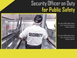 Security Officer On Duty For Public Safety