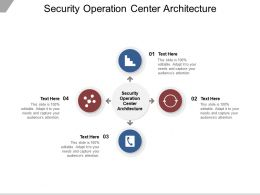 Security Operation Center Architecture Ppt Powerpoint Presentation Show Files Cpb