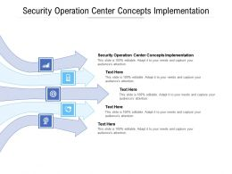 Security Operation Center Concepts Implementation Ppt Powerpoint Presentation Pictures Cpb