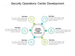 Security Operations Center Development Ppt Powerpoint Presentation Model Designs Download Cpb