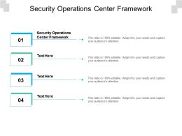 Security Operations Center Framework Ppt Presentation Icon Slide Portrait Cpb