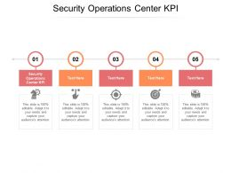 Security Operations Center KPI Ppt Powerpoint Presentation Ideas Information Cpb