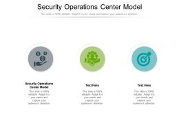 Security Operations Center Model Ppt Powerpoint Presentation Outline Example Topics Cpb