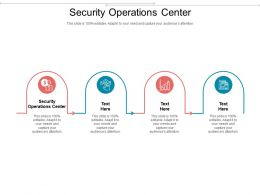 Security Operations Center Ppt Powerpoint Presentation Slides Microsoft Cpb