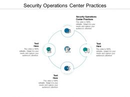 Security Operations Center Practices Ppt Powerpoint Presentation Model Cpb