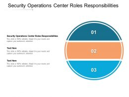 Security Operations Center Roles Responsibilities Ppt Powerpoint Presentation Professional Aids Cpb