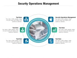 Security Operations Management Ppt Powerpoint Presentation File Ideas Cpb