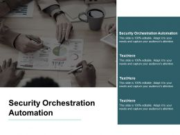 Security Orchestration Automation Ppt Powerpoint Presentation Summary Samples Cpb