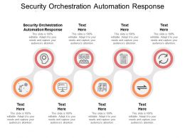 Security Orchestration Automation Response Ppt Powerpoint Presentation Model Slide Portrait Cpb
