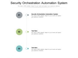 Security Orchestration Automation System Ppt Powerpoint Presentation Professional Visuals Cpb