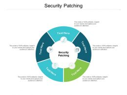 Security Patching Ppt Powerpoint Presentation Styles Design Inspiration Cpb