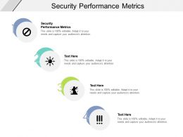 Security Performance Metrics Ppt Powerpoint Presentation Outline Brochure Cpb
