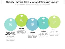 Security Planning Team Members Information Security Ppt Powerpoint Presentation Summary Slide Cpb