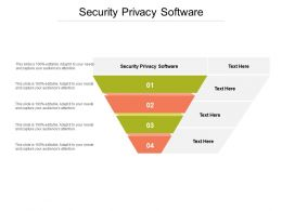 Security Privacy Software Ppt Powerpoint Presentation File Clipart Cpb