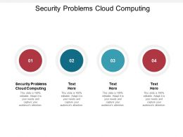 Security Problems Cloud Computing Ppt Powerpoint Presentation Gallery Rules Cpb