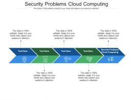 Security Problems Cloud Computing Ppt Powerpoint Presentation Portfolio Maker Cpb