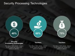 Security Processing Technologies Ppt Powerpoint Presentation Model Graphics Download Cpb