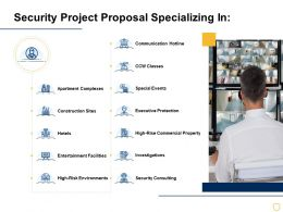 Security Project Proposal Specializing In Ppt Powerpoint Presentation Pictures