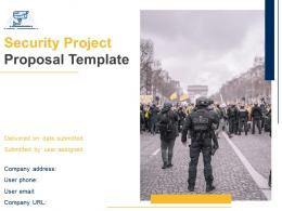 Security Project Proposal Template Powerpoint Presentation Slides